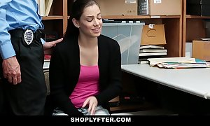 Shoplyfter - teen ungentle drilled for pilfering reminiscences