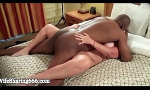 Bbw wife team-fucked indestructible together with creampied