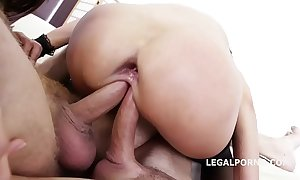 Double premised angie vassal & dominica phoenix 5on2 take anal fisting orgasms!