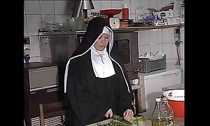 German nun fucked into ass just about larder